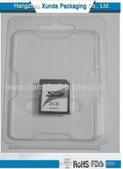 Blister packaging for sd cards