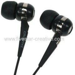 New Super Creative EP-830 Premium Audio Canal Noise-Isolating Headset Earphones Black