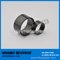 N45 Ring NdFeB Magnet D25x5mm Black Teflon Coating