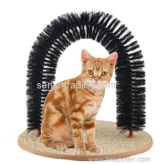 Purrfect Cat Toy Arch Cat Brush Scratcher Pet Groomer