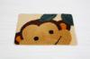 Hot sale children carton animal shape anti-slip tufted floor mat cut mat