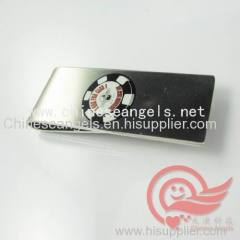 custom printed metal money clip factory stainless steel money pin with customized logo
