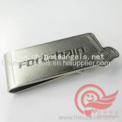 customized engraved and lasered metal money clip factory stainless steel money pin with customized logo