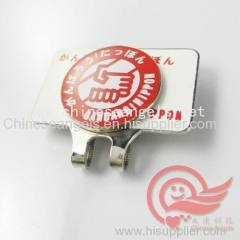 customized luxury metal golf hat clip and metal stick with printed efficiency manufacturer