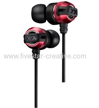 JVC XX Series Xtreme Xplosives Canal Type Wired Sound Isolating Headphone Earphones Red HA-FX3X