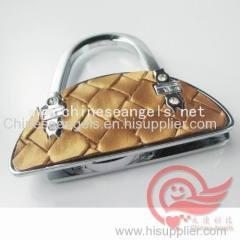 custom metal handbag hangers hooks and holders in bag shape zinc alloy bag holder factory