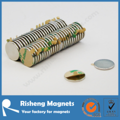 Neodymium disc magnet with adhesive 3m self adhesive magnet double sided