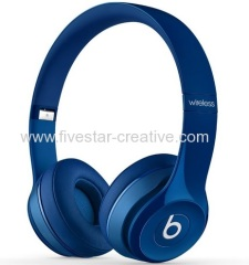 Beats by Dre New Bluetooth Beats Solo2 Wireless Headphone Headsets in Blue