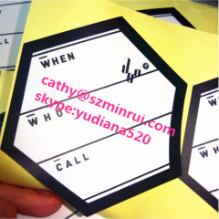 hot custom matte/glossy lamination printing logo stickers