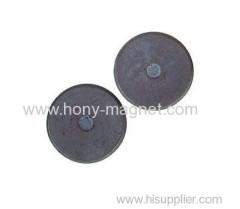 Small disc bonded ferrite radial magnet