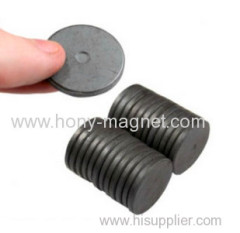 High performance bonded ferritel magnetized magnet