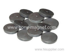 Black epoxy coating bonded ferrite disc magnets