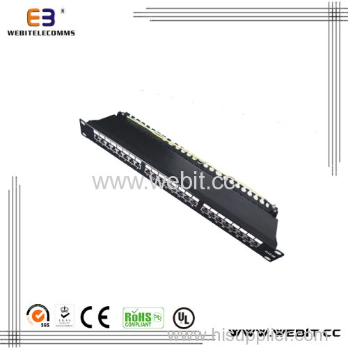 19'' STP 24 Ports CAT5e Patch Panel with Horizontal Version