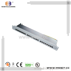 19'' STP 24 Ports CAT6 Patch Panel with Horizontal Version
