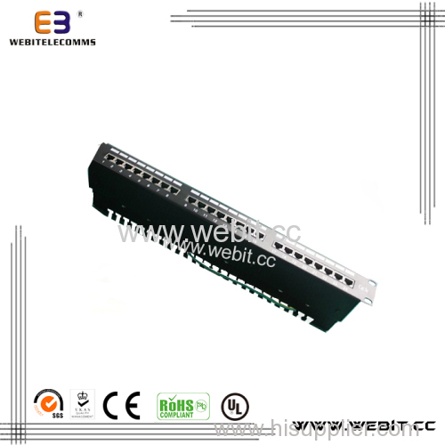 19'' 1u 24 Ports CAT5e Patch Panel with Each One Modular Shielded