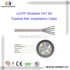 U / UTP unShielded Cat 6A cable de instalación de par trenzado