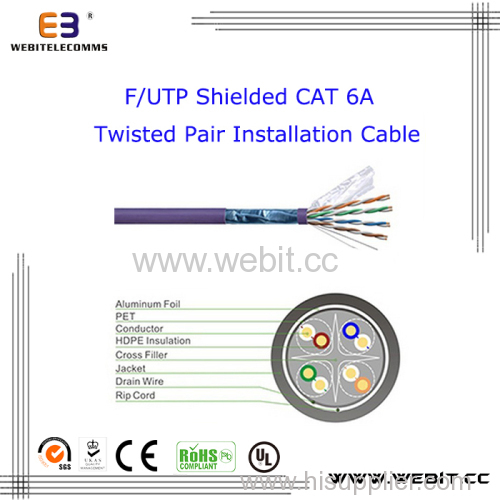F/UTP Shielded Cat 6A Installation Cable