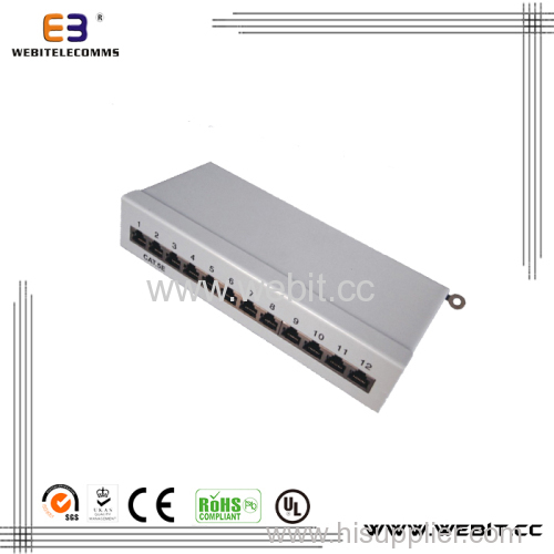 Mini STP Cat5e Patch Panel 12 Port, Krone&110 Dual IDC