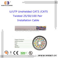 Cat 3 CAT5e twisted 25/50/100 pair Installation cable