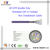 SF/UTP double fully Shielded Cat 6 Twisted Pair Installation cable