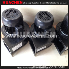 Plastic extruding machine cooling fans heatings and gearbox