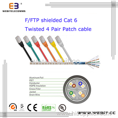Fftp cat6 patch cable patch cord wb pc 04 manufacturer from fftp cat6 patch cable patch cord sciox Choice Image