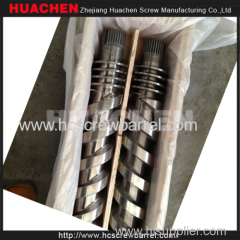 Bimetallic extruder parallel twin screw barrel