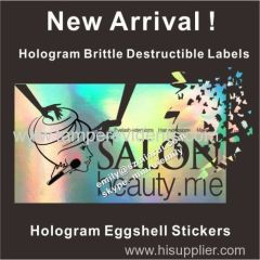 Hologram eggshell graffitti stickers Custom