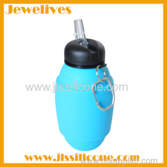 Silicone foldable sport water bottle wholesale