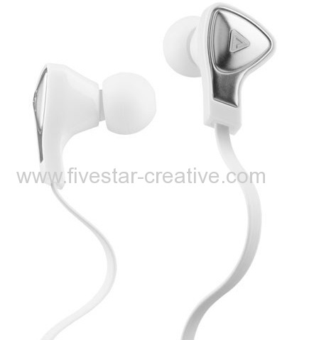Monster DNA In-Ear Earbud Headphones white with Satin Chrome Finish