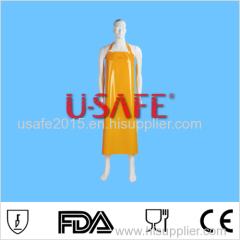 PVC waterproof butcher/kitchen apron for food processing/ fishing