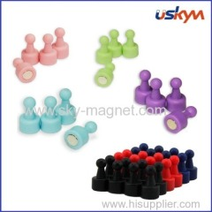 Magnetic Push Pin for WhiteBoard & Fridge - New colors