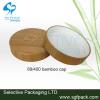 wooden lid bamboo cap 89/400 cap cream jar cap outer bamboo cap and PP inner cap
