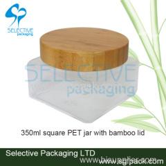 Square PET cream jar