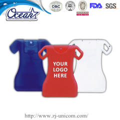 15ml clothes shape card hand sanitizer define product promotion
