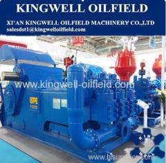F-1600HL horizontal type triplex single acting mud pump for oil&gas drilling