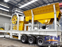 Tyre Mobile Impact Stone Crusher