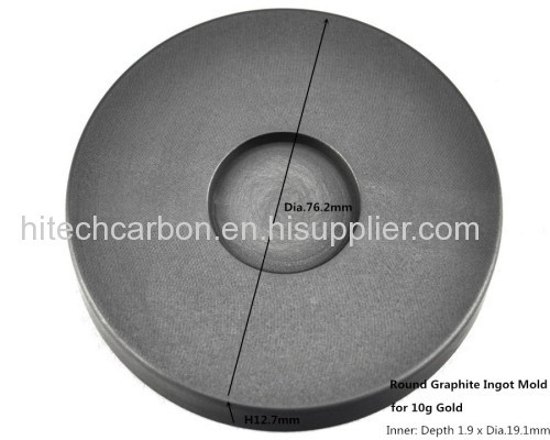 10G Round Gold refining casting in Graphite Ingot Mold /gold