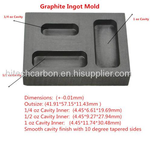 Graphite Ingot Mold for 1 75oz gold casting / High Density