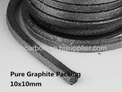 10*10mm Expanded graphite braided packing 1kg /Graphite Gland Packing Rope /valve packing, pump packing