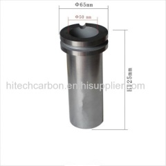 1kg Gold Melting Graphite Crucible with grooved double flange size OD65* ID38* H125 mm/ High Density high Purity Graphit