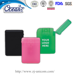 20ml flip cover card hand sanitizer product market mix