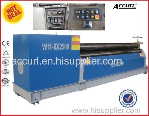 W11 80mm 6000mm Mechanical three roller plate rolling machine4