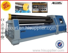 W11 60mm 6000mm Mechanical three roller plate rolling machine4