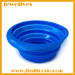 Silicone collapsible bowl for pets