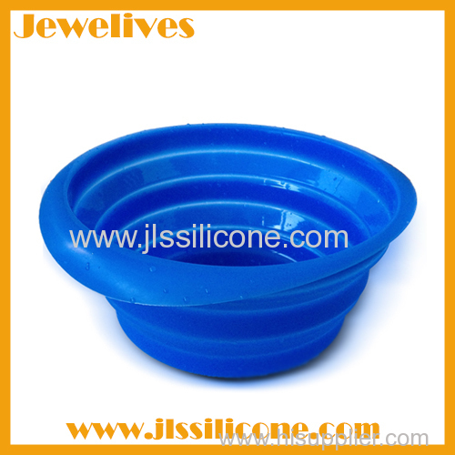 Silicone foldable pets bowl hot selling