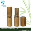 2015 hot sale bamboo/wood cosmetic packaging bamboo and gold aluminum empty lipstick container
