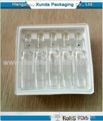 Blister vial packaging tray