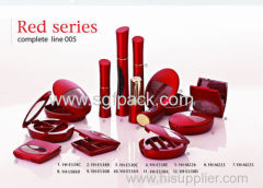 red color cosmetic container