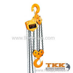 Rated Capacity 10ton Chain Pulley Block Manufacturer TKK hoist